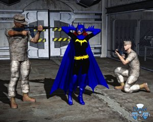 batgirl___arrested__unmasked_by_military_police_1_by_mannameded-d9j5ufq