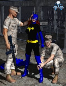 batgirl___arrested__unmasked_by_military_police_3_by_mannameded-d9j6080